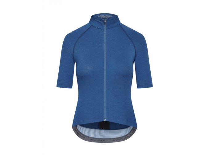 Dámský dres na kolo MERINO MARINA - Peacock modrá