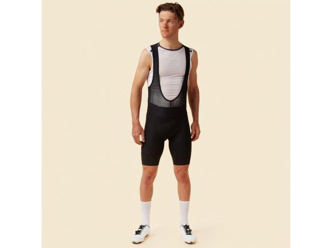 CAFÉ DU CYCLISTE - pánské cyklistické kalhoty - cyklo kraťasy MATHILDE černá