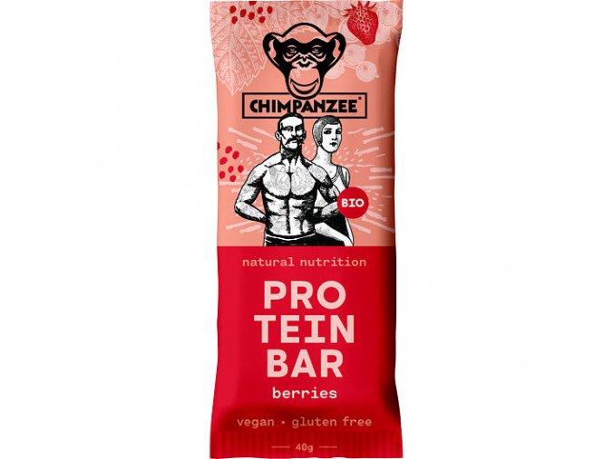 Proteinové tyčinky - proteinová tyčinka CHIMPANZEE BIO PROTEIN BAR Berries 40g, CZ-BIO-002