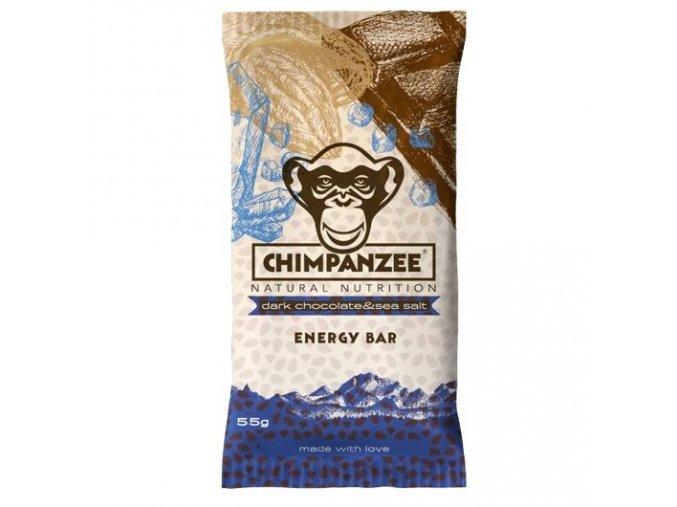 Energetické tyčinky - energetická tyčinka CHIMPANZEE ENERGY BAR Dark Chocolate & Sea Salt 55g