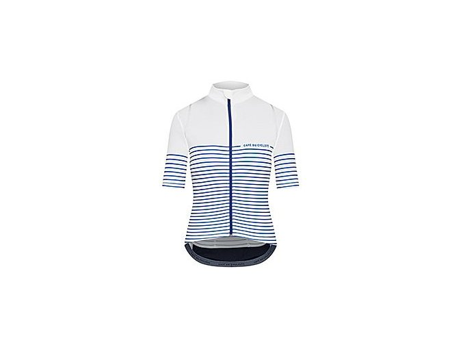 Dámský dres na kolo AUDAX MONA - Sailor bílá s proužkem