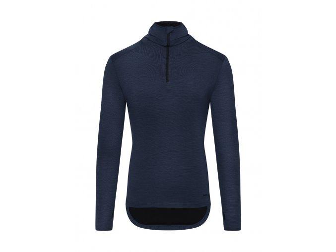 CAFÉ DU CYCLISTE - pánské cyklo oblečení - mikina Merino BERTHE námořní modrá