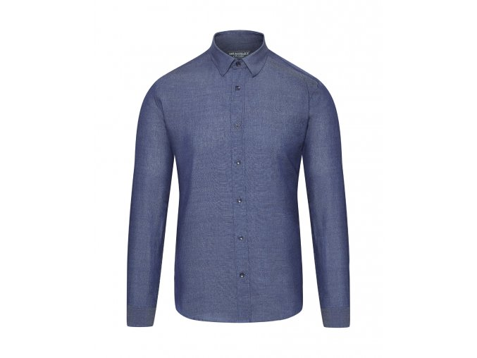 CAFÉ DU CYCLISTE - pánské cyklo oblečení - košile na kolo Merino ARMELLE modrá