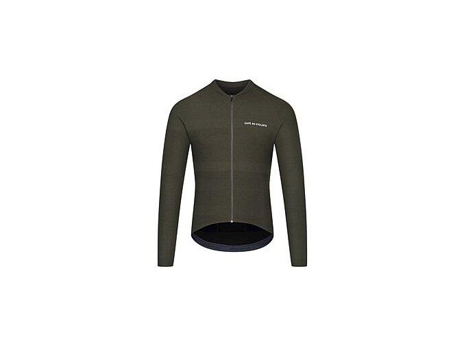 Cyklodres s dlouhým rukávem CORINNE - zelenámen cycling jersey corinne moss 7[1]