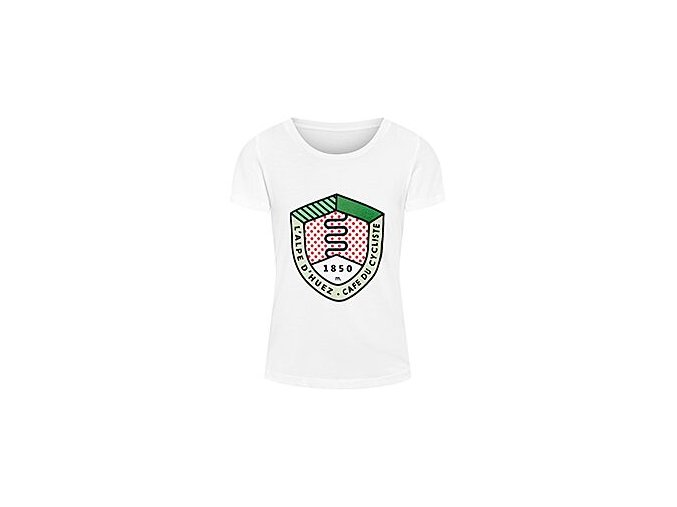 Dámské bavlněné tričko s obrázkem Alpe d'Huezwomen cycling tshirt alpe huez 1 1[1]