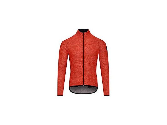 Cyklodres s dlouhým rukávem MERINO MARGUERITE - oranžovámen cycling jersey marguerite orange 230920[1]