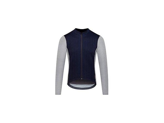 Cyklodres s dlouhým rukávem MERINO AUDAX IRMA - námořní modrá s šedoumen cycling jersey irma navy grey[1]