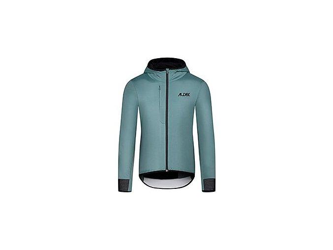 Zimní cyklobunda vhodná i do města ZELIE Audax stříbrná borovicemen cycling jacket audax zelie green 300920[1]