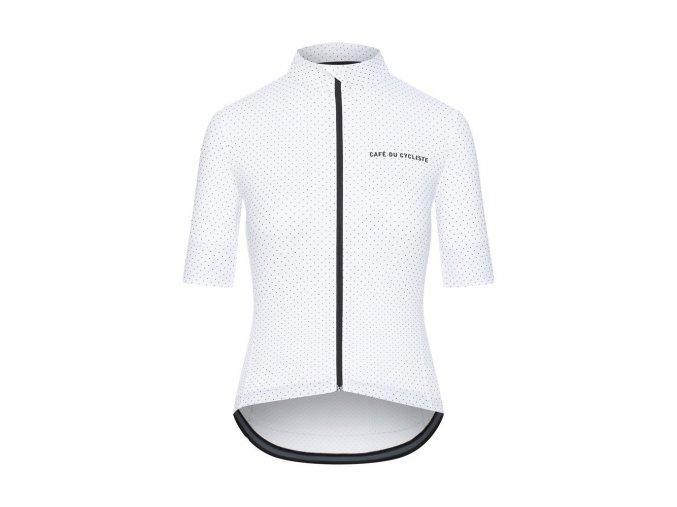 Dámský dres na kolo FLEURETTE - bílá