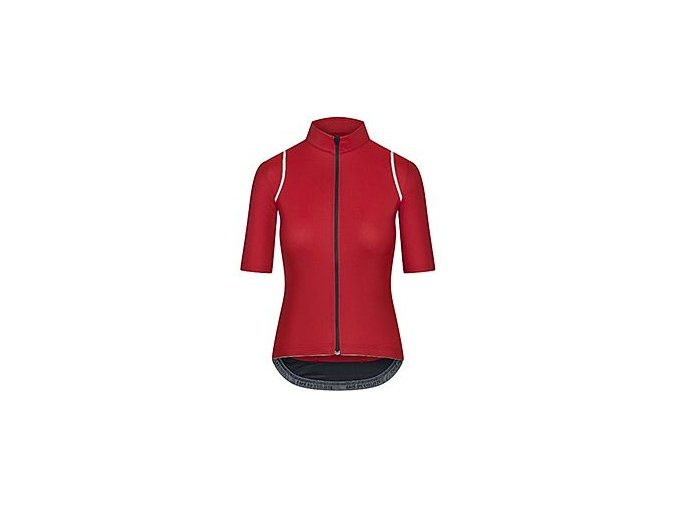 CAFÉ DU CYCLISTE dámský cyklistický dres - cyklodres merino  MONA červená