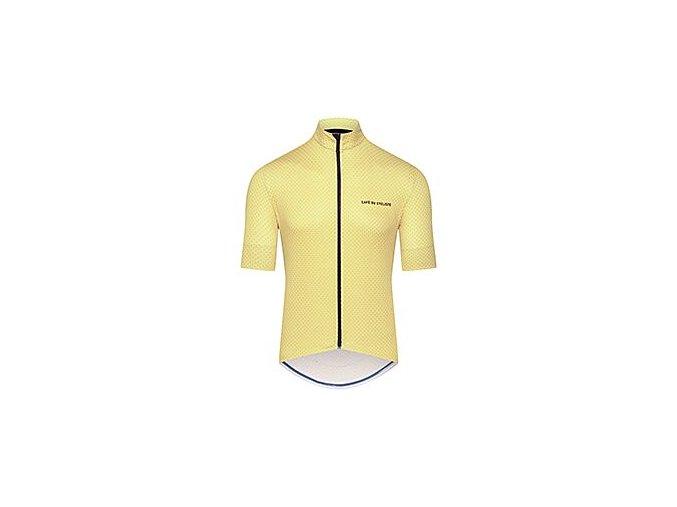 Cyklo dres FLEURETTE - citrónově žlutá