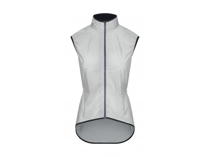 Café du Cycliste SS19 Women Gilet Madeleine Grey White stripes packshot front