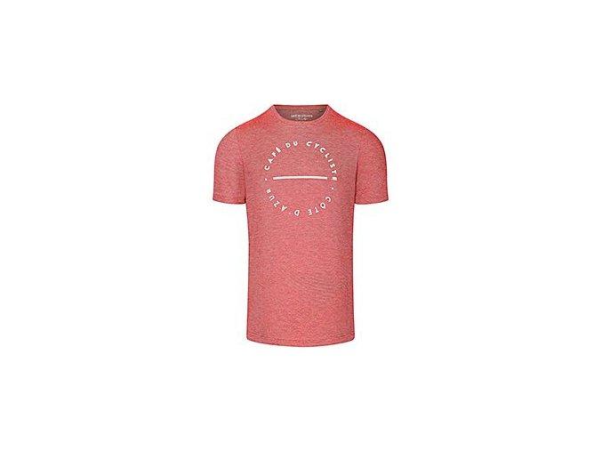 Tričko s bílým nápisem CAFÉ DU CYCLISTE červenámen cycling tshirt red[1]