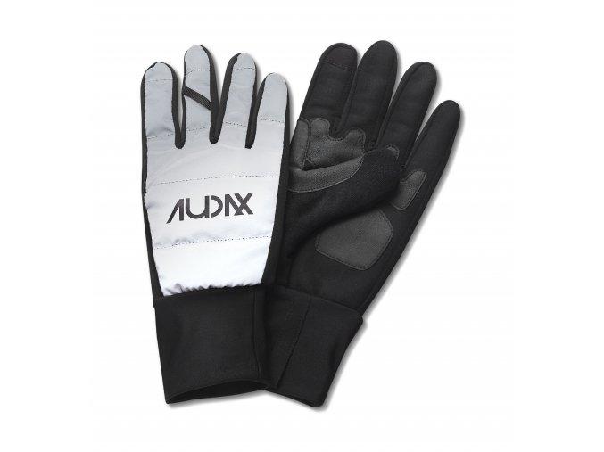CAFÉ DU CYCLISTE - cyklistické rukavice - rukavice na kolo Audax - reflexní stříbrná