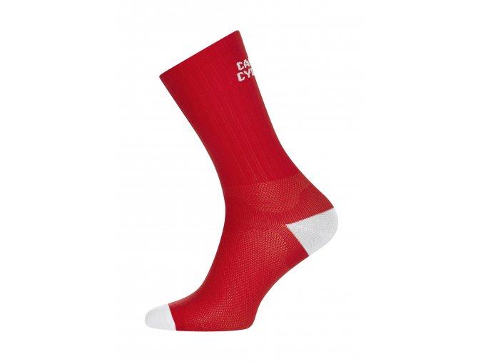 Café du Cycliste SS19 accessoires Socks block colour red packshot side