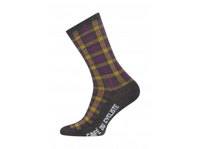 CAFÉ DU CYCLISTE - cyklistické ponožky - Merino SCOTCH šedá