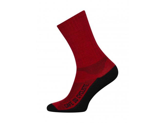 CAFÉ DU CYCLISTE Ponožky CYCLING SOCKS MP červená