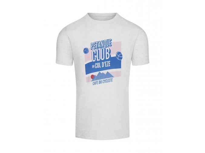 Cafe du cycliste SS19 Men City T Shirt Petanque Clear Grey Packshot Front