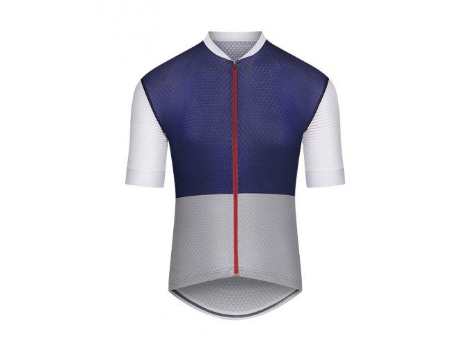 CAFÉ DU CYCLISTE - pánský cyklistický dres - cyklodres MICHELINE námořní modrá a šedá
