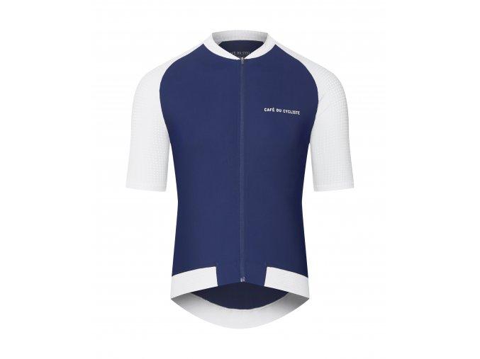 CAFÉ DU CYCLISTE - pánský cyklistický dres - cyklodres DALIDA námořní modrá
