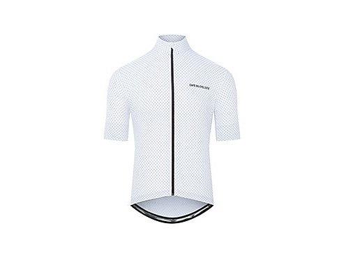 CAFÉ DU CYCLISTE - pánský cyklistický dres - cyklodres FLEURETTE bílá