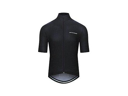 CAFÉ DU CYCLISTE - pánský cyklistický dres - cyklodres FLEURETTE černá