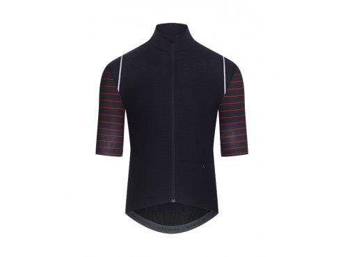 CAFÉ DU CYCLISTE - pánský cyklistický dres - cyklodres merino MONIQUE AUDAX námořní modrá