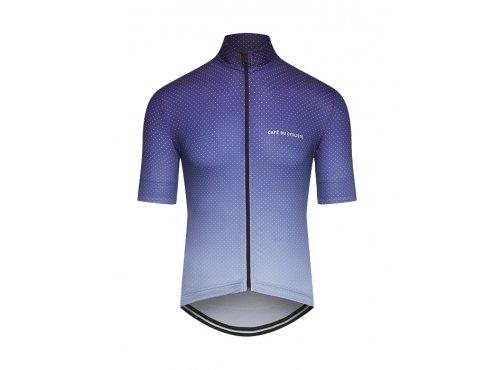 CAFÉ DU CYCLISTE - pánský cyklistický dres - cyklodres FLEURETTE Shaded modrá