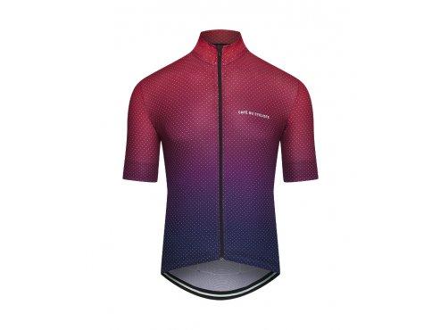 CAFÉ DU CYCLISTE - pánský cyklistický dres - cyklodres FLEURETTE Shaded červená