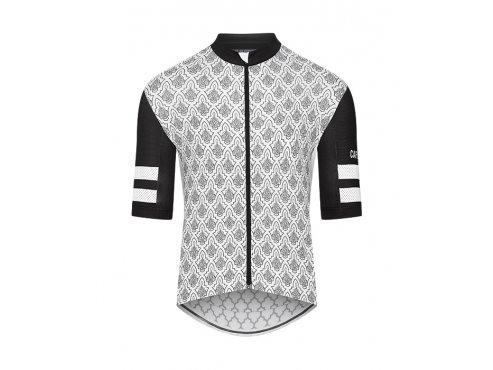 CAFÉ DU CYCLISTE - pánský cyklistický dres - cyklodres TICHKA černá a bílá