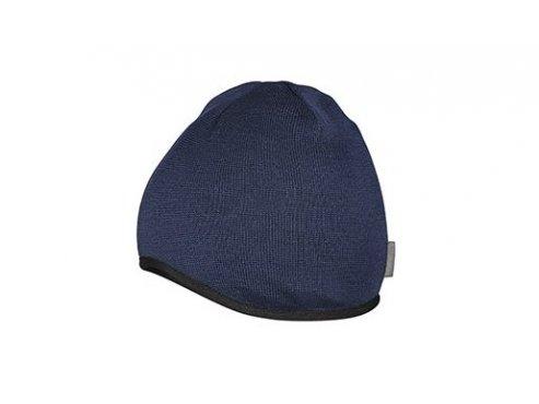 Zimní cyklistická čepice - Merino MARIANNE - námořní modrá