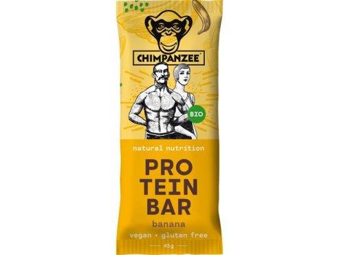 Proteinové tyčinky - proteinová tyčinka CHIMPANZEE BIO PROTEIN BAR Banana 45g, CZ-BIO-002
