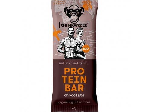 Proteinové tyčinky - proteinová tyčinka CHIMPANZEE BIO PROTEIN BAR Chocolate 40g, CZ-BIO-002