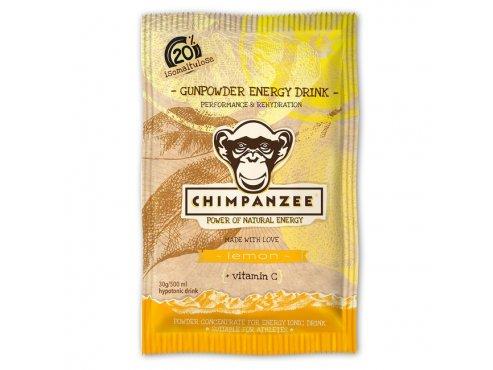 Energetické nápoje - energetický nápoj CHIMPANZEE Gunpowder ENERGY drink Lemon 30g