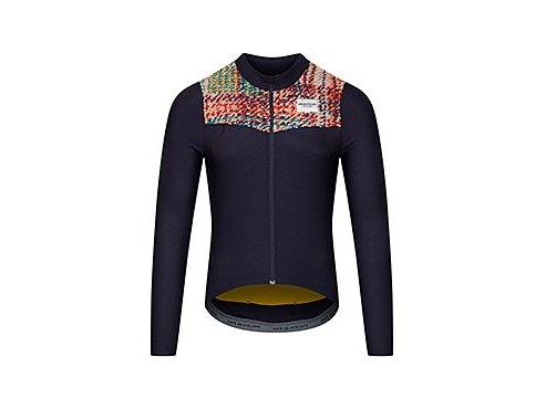 CAFÉ DU CYCLISTE - pánské cyklistické dresy - cyklodres s dlouhým rukávem CLEMENCE námořní modrá
