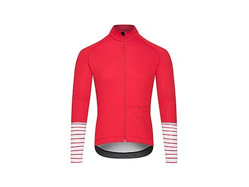 CAFÉ DU CYCLISTE - pánské cyklistické dresy - cyklodres s dlouhým rukávem Merino ARLETTE Audax červená