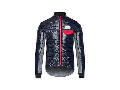 CAFÉ DU CYCLISTE - pánské cyklistické bundy - zimní cyklo bunda na kolo Merino ALBERTINE námořní modrá