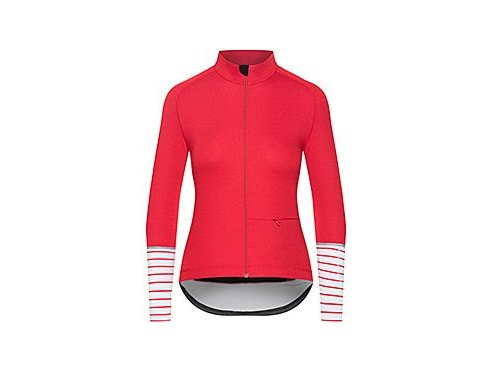 CAFÉ DU CYCLISTE - dámské cyklistické dresy - cyklodres s dlouhým rukávem Merino WOMEN'S ARLETTE Audax červená