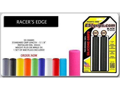 Gripy na kolo - silikonový grip Racer's Edge, 50g černá