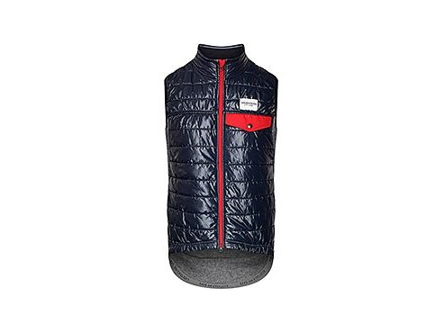 CAFÉ DU CYCLISTE - pánské cyklistické vesty - windstopper Merino ALBERTINE námořní modrá
