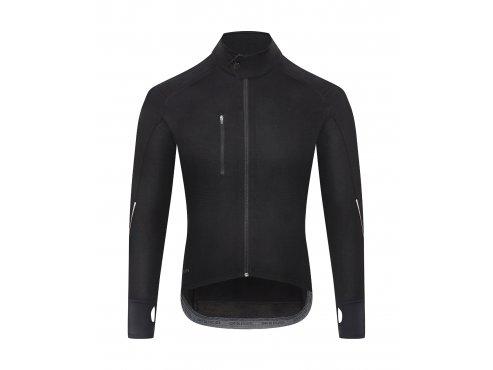 CAFÉ DU CYCLISTE - Pánský cyklistický dres - cyklodres merino s dlouhým rukávem YOLANDE černá