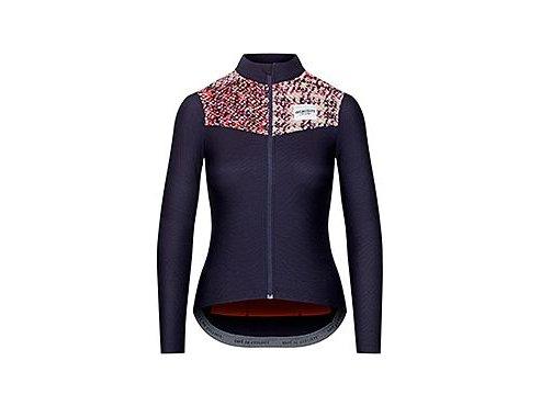 CAFÉ DU CYCLISTE - dámské cyklistické dresy - cyklodres s dlouhým rukávem WOMEN'S CLEMENCE námořní modrá