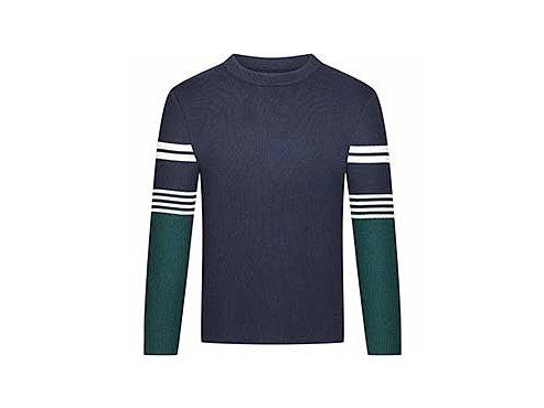 Vlněný svetr - svetr Merino GERMAINE námořní modrá