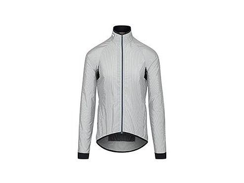 CAFÉ DU CYCLISTE - Cyklistická větrovka, bunda proti větru na kolo MADELEINE šedá a bílá