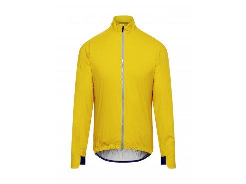Pánská cyklistitká nepromokavá bunda na kolo - do deště CAFÉ DU CYCLISTE - SUZETTE žlutá