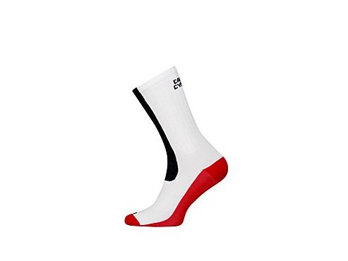 Cyklistické ponožky - COLOUR červená & černá