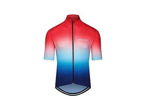 Cyklodres FLEURETTE - stínovaná červeno modrá