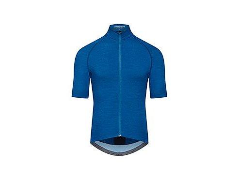 Cyklodres MERINO MARINA - Peacock modrá