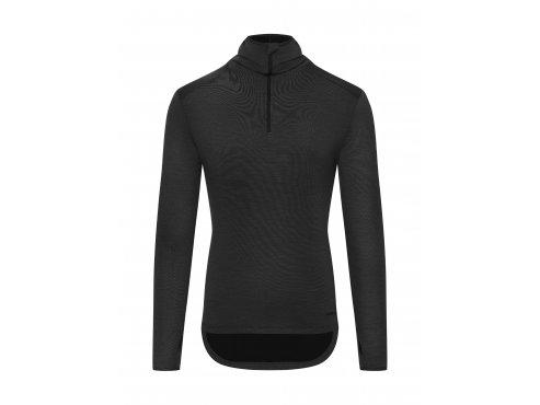 CAFÉ DU CYCLISTE - pánské cyklo oblečení - mikina Merino BERTHE černá