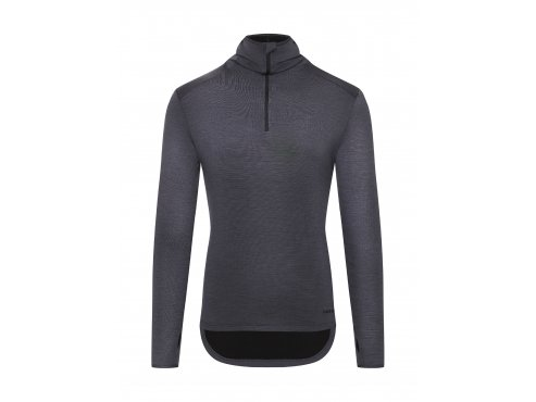 Cafe du cycliste SS19 Men City Merino Hooded Top Berthe Grey Packshot Front